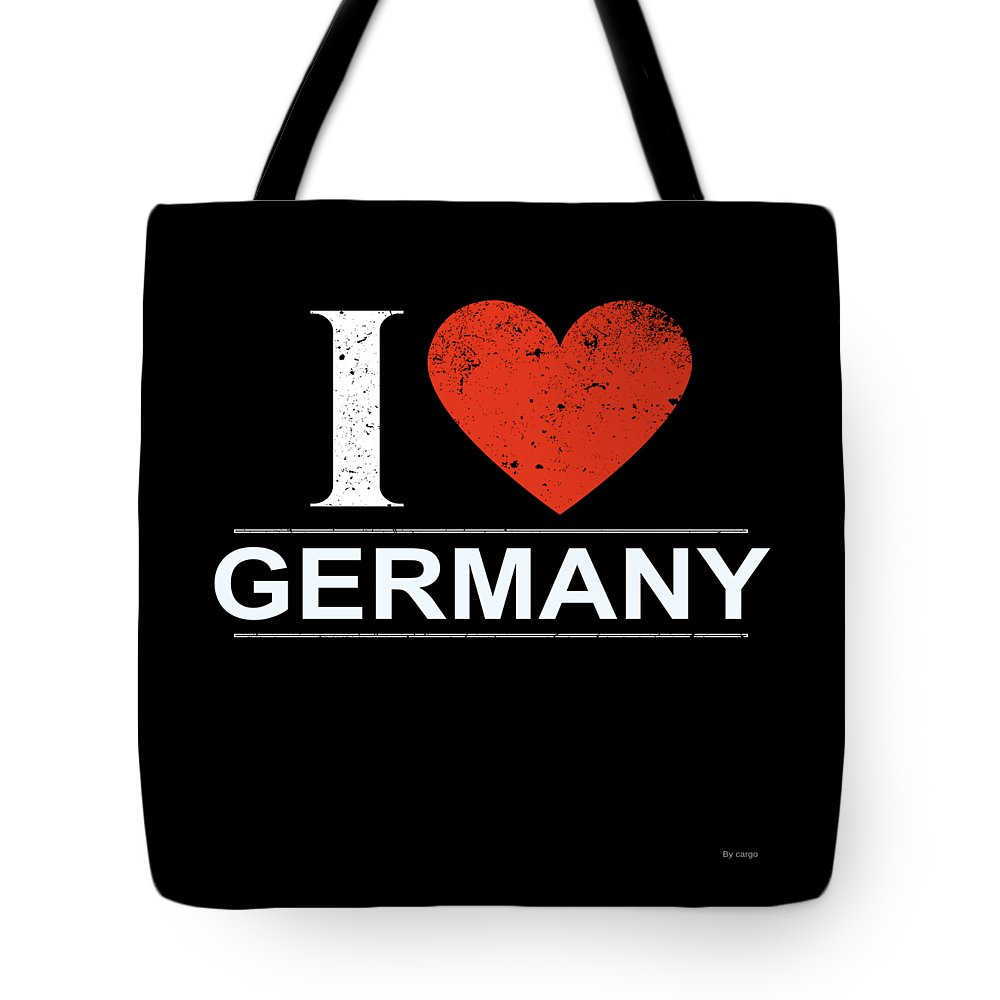 Gift Tote Bag featuring the digital art I Love Germany by Jose O