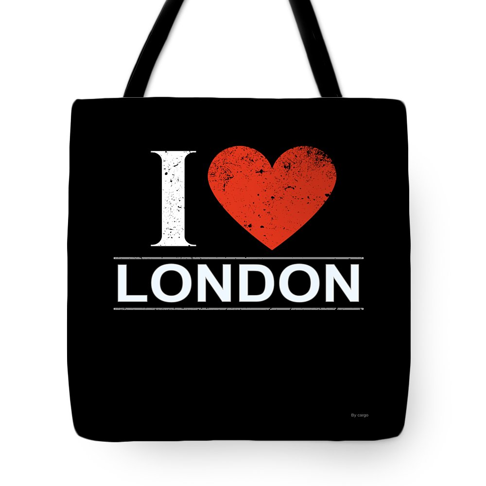 Gift Tote Bag featuring the digital art I Love London by Jose O