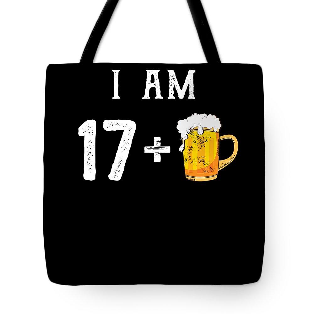 Birthday-gag-gift Tote Bag featuring the digital art Iam 18 by Eriel Ocon