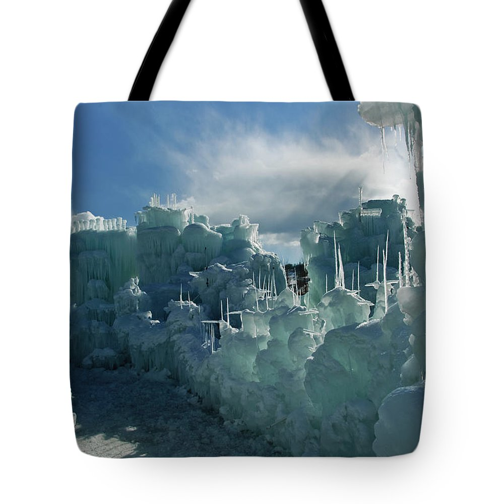 Iceberg Tote Bag featuring the photograph Ice Castle by Robin Wilson Photography