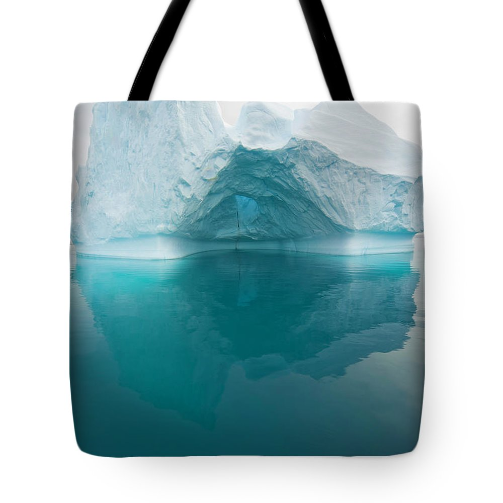 Iceberg Tote Bag featuring the photograph Iceberg And Reflections, Antarctic by Eastcott Momatiuk