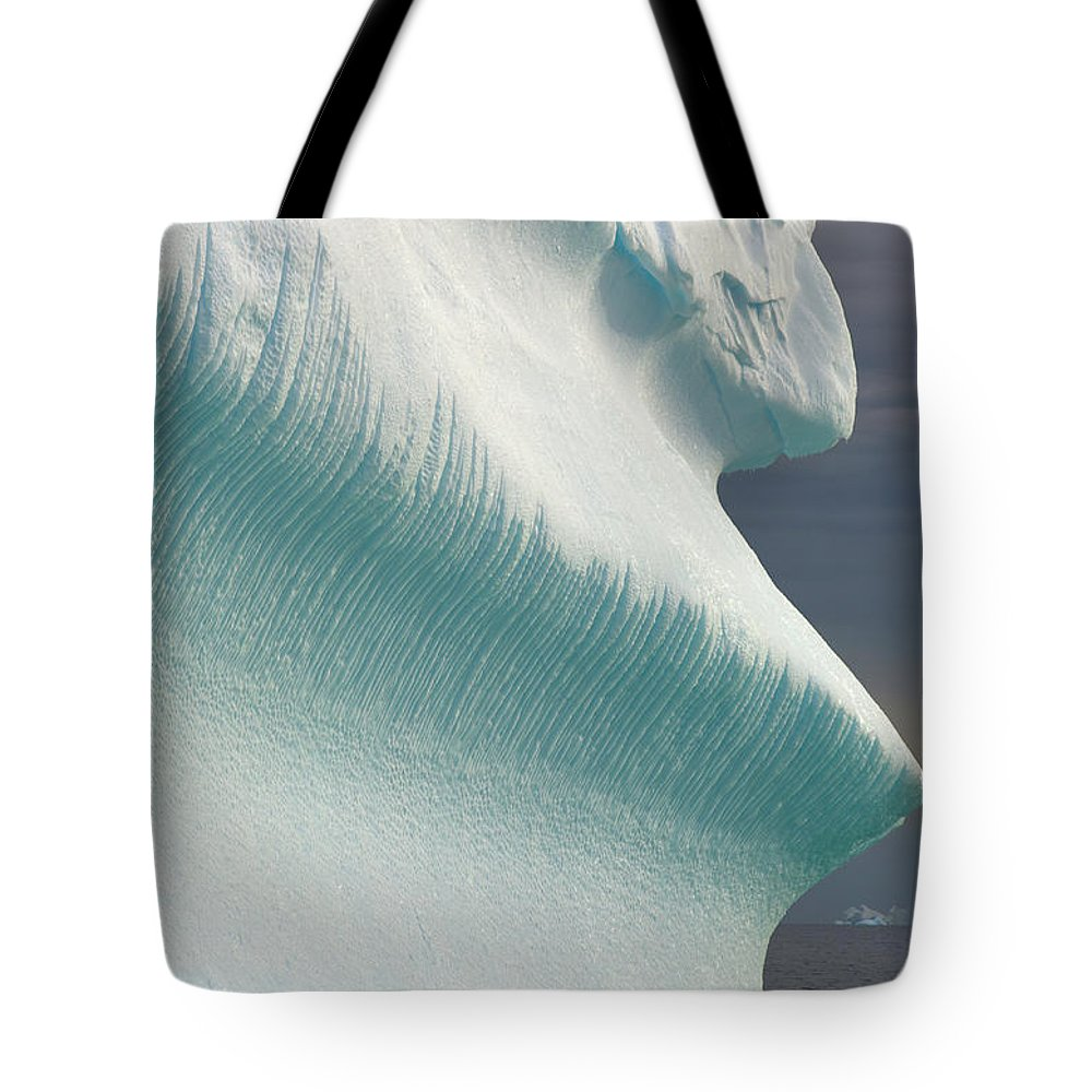 Iceberg Tote Bag featuring the photograph Iceberg, Grandidier Passage, Antarctic by Eastcott Momatiuk