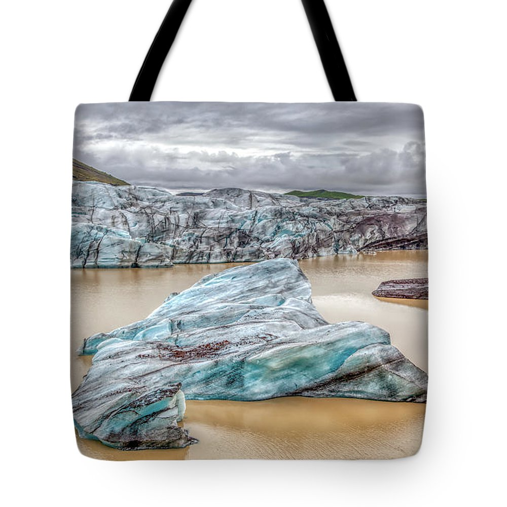 Iceberg Tote Bag featuring the photograph Iceberg Of Iceland by David Letts