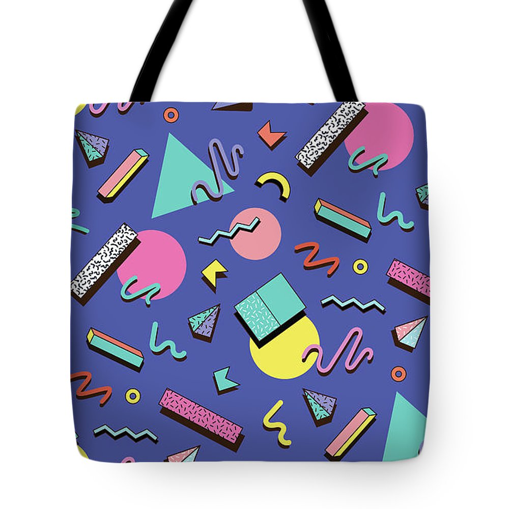 Cool Attitude Tote Bag featuring the digital art Illustration For Hipsters Style by Fighter francevna