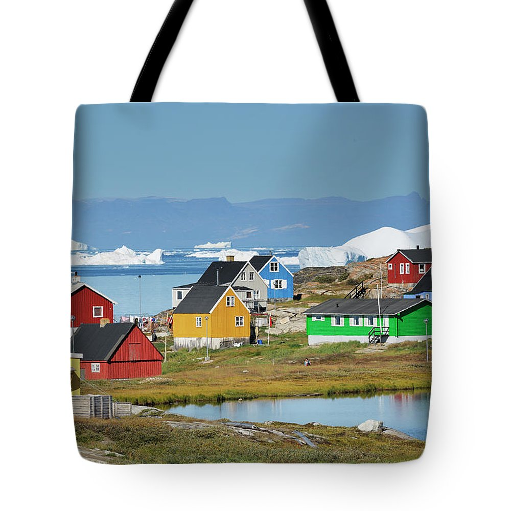 Ilulissat Icefjord Tote Bag featuring the photograph Ilulissat by Cornelia Doerr