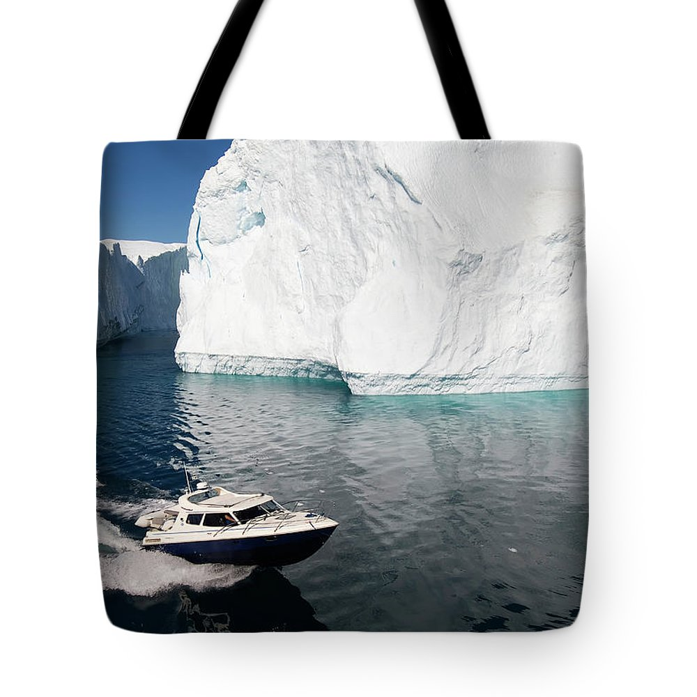 Scenics Tote Bag featuring the photograph Ilulissat, Disko Bay by Gabrielle Therin-weise