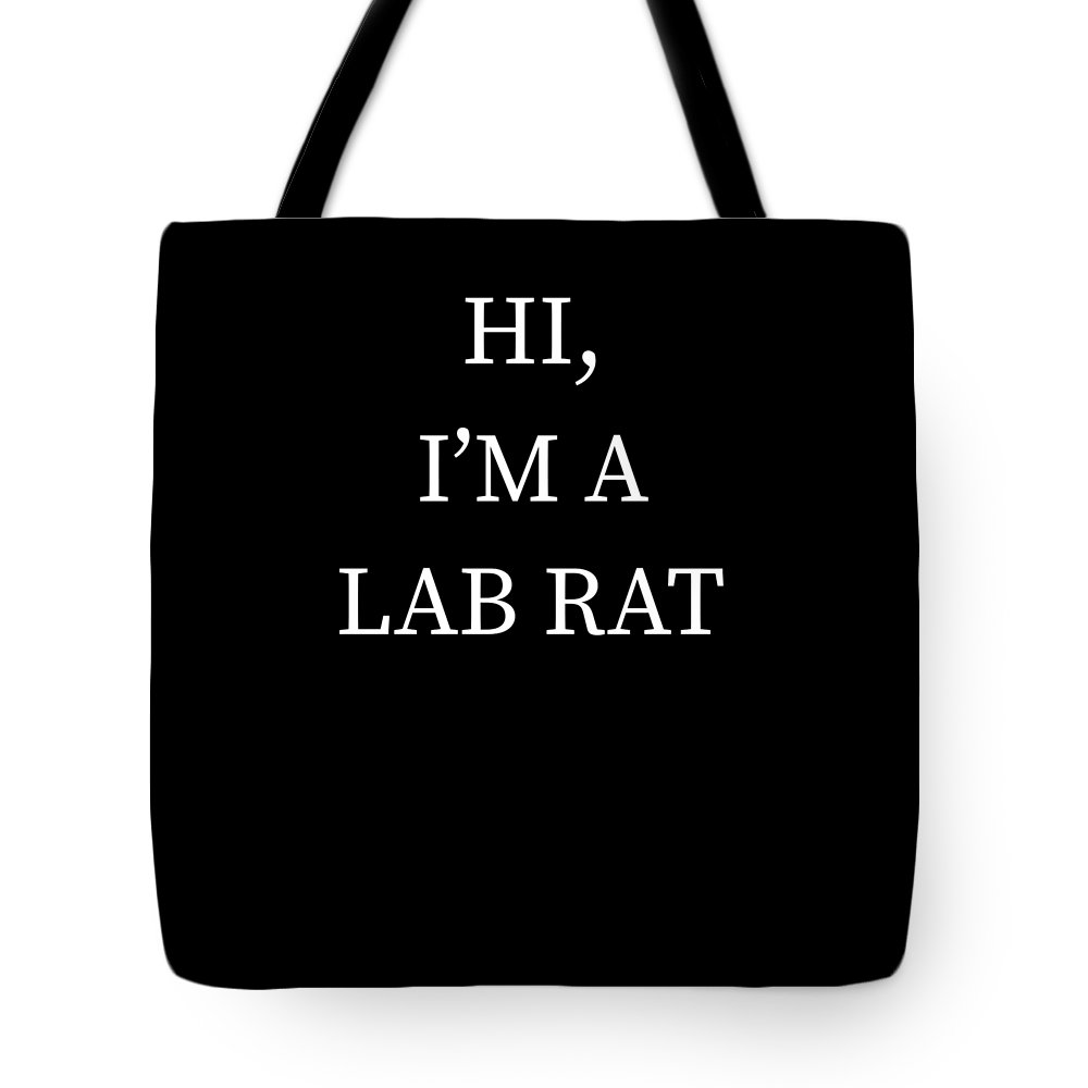 Halloween Tote Bag featuring the digital art Im A Lab Rat Halloween Funny Last Minute Costume by Michael S