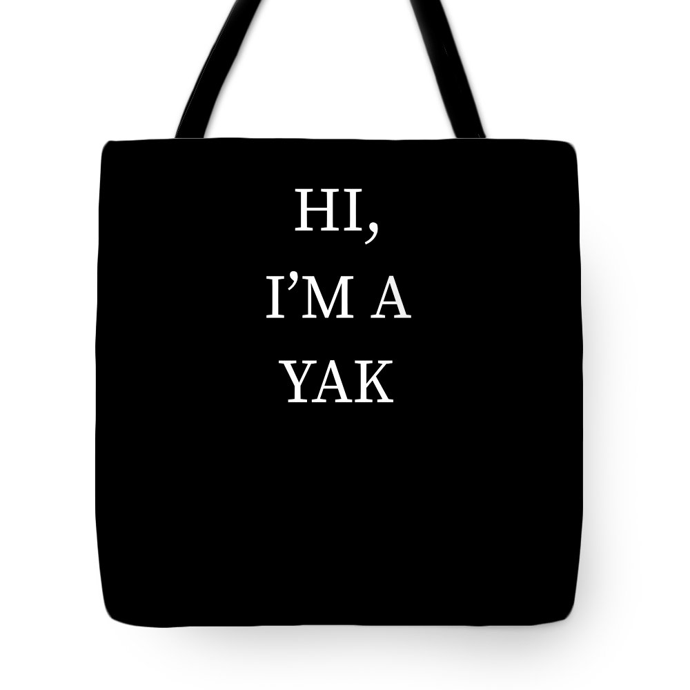 Halloween Tote Bag featuring the digital art Im A Yak Halloween Funny Last Minute Costume by Michael S