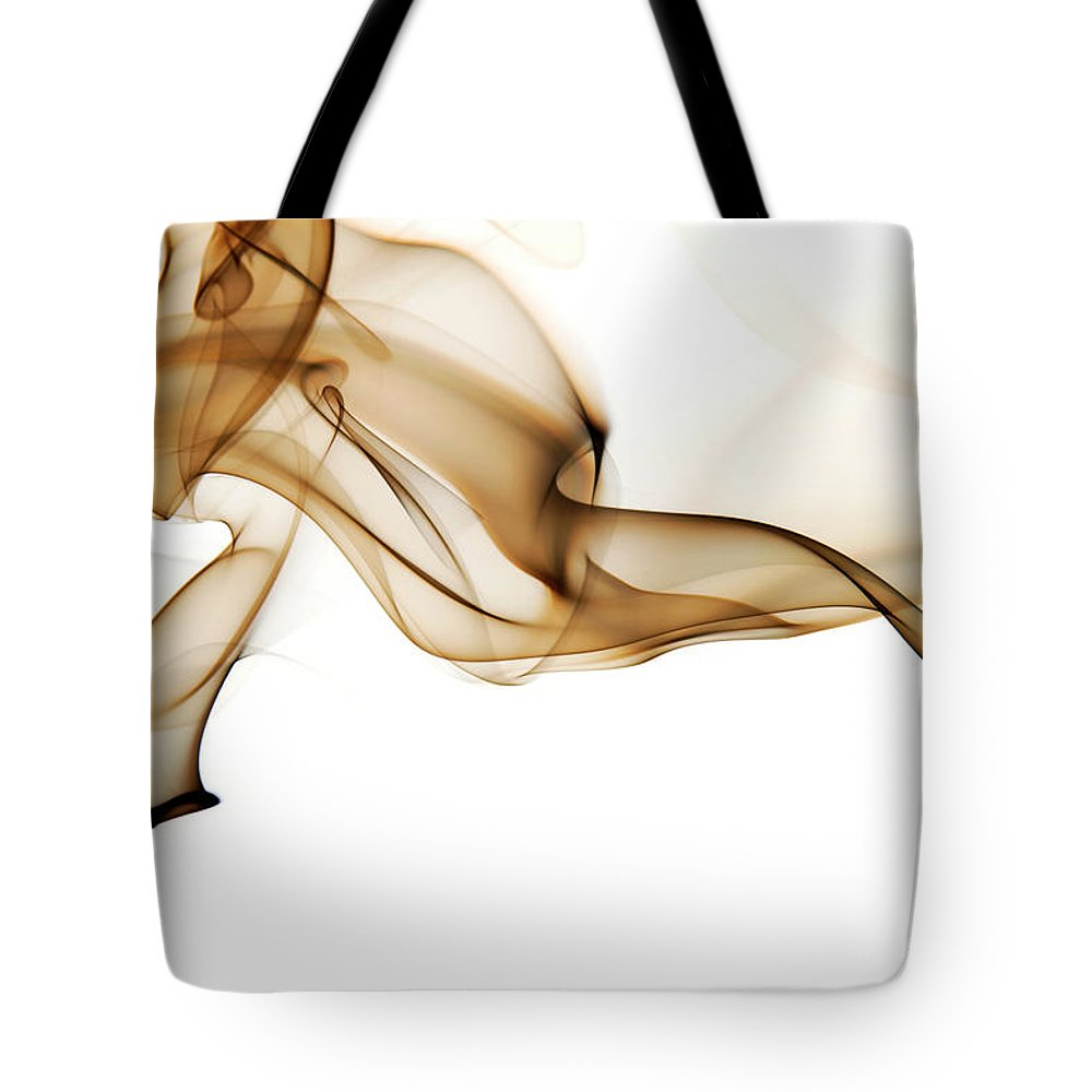 Art Tote Bag featuring the photograph Image Of High Contrast Smoke Up Against by Guarosh
