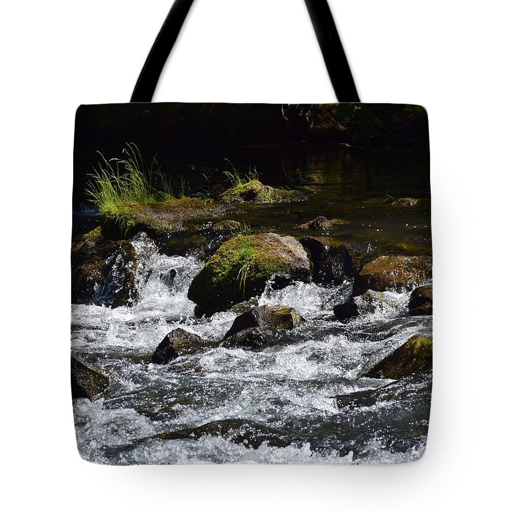 Streams Tote Bag featuring the photograph In Motion by Lkb Art And Photography