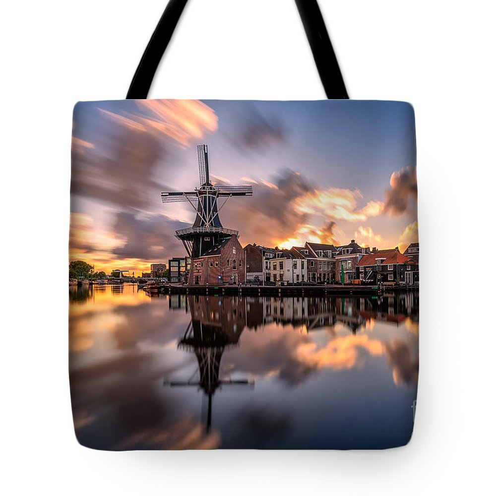 Haarlem Tote Bag featuring the photograph Inception by Costas Ganasos