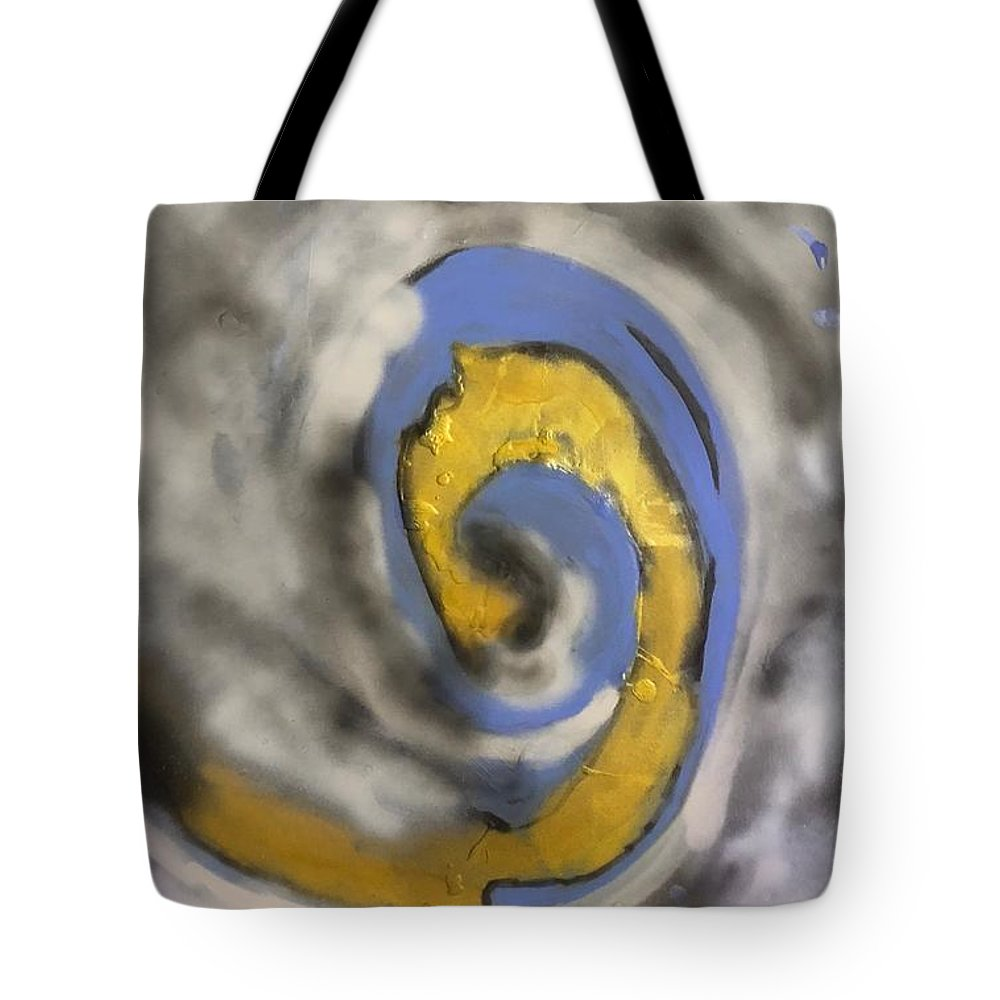 Explorepage #explore Tote Bag featuring the painting Inception by Sonye Locksmith