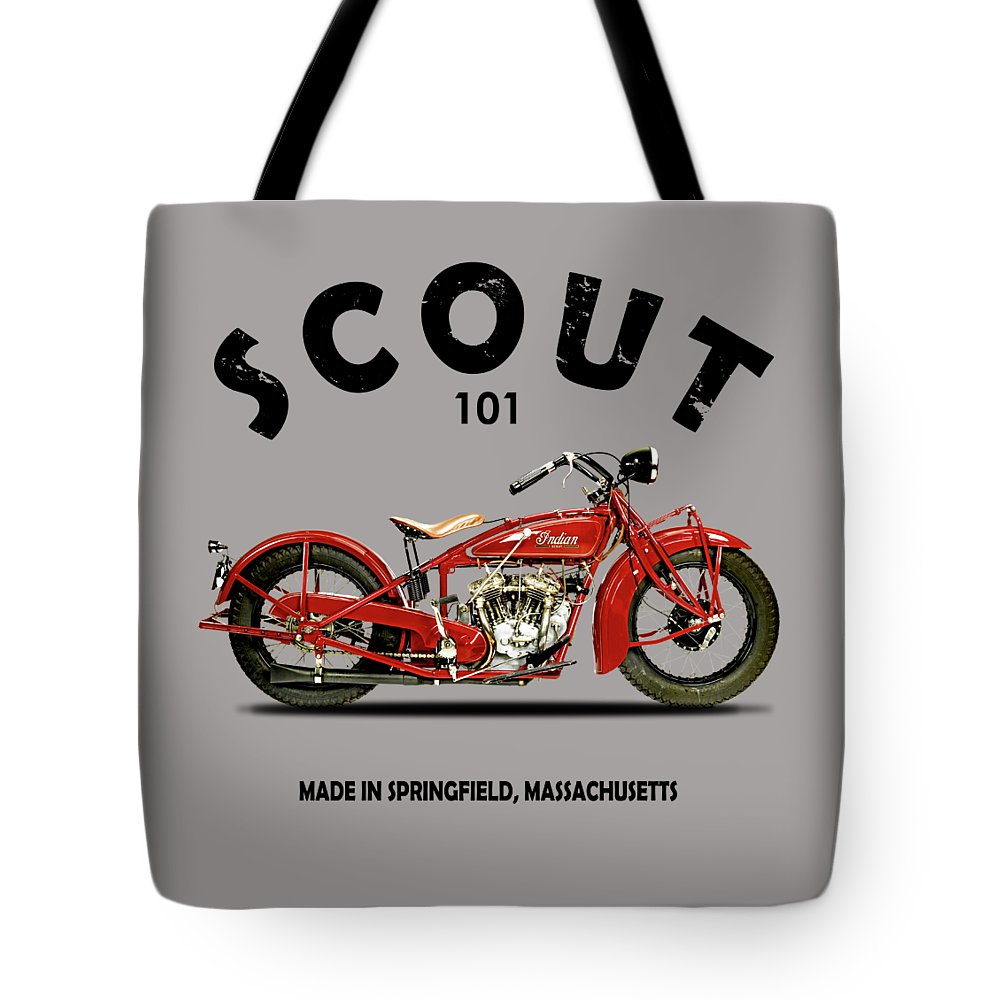 Indian Scout 101 Tote Bag featuring the photograph The Scout 101 1929 by Mark Rogan