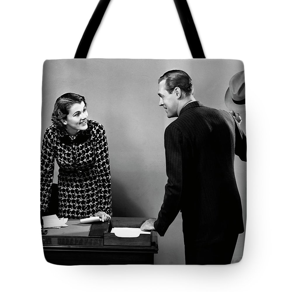 Corporate Business Tote Bag featuring the photograph Indoor Business Scene by George Marks