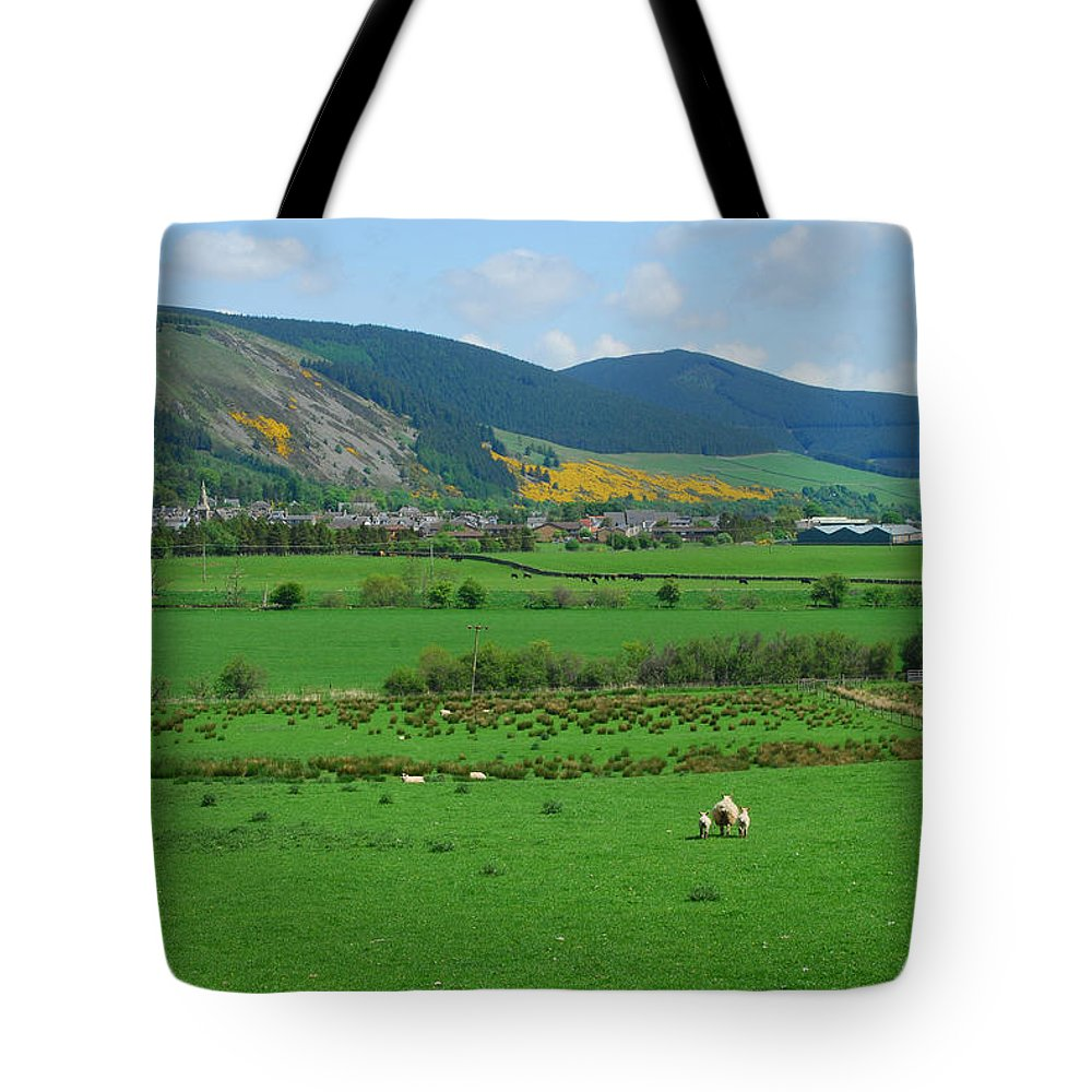 Innerleithen Tote Bag featuring the photograph Innerleithen In The Tweed Valley by Victor Lord Denovan