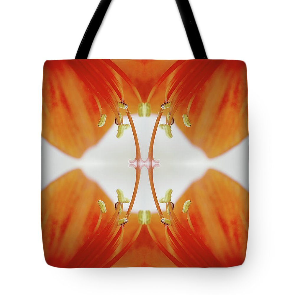 Tranquility Tote Bag featuring the photograph Inside An Amaryllis Flower by Silvia Otte