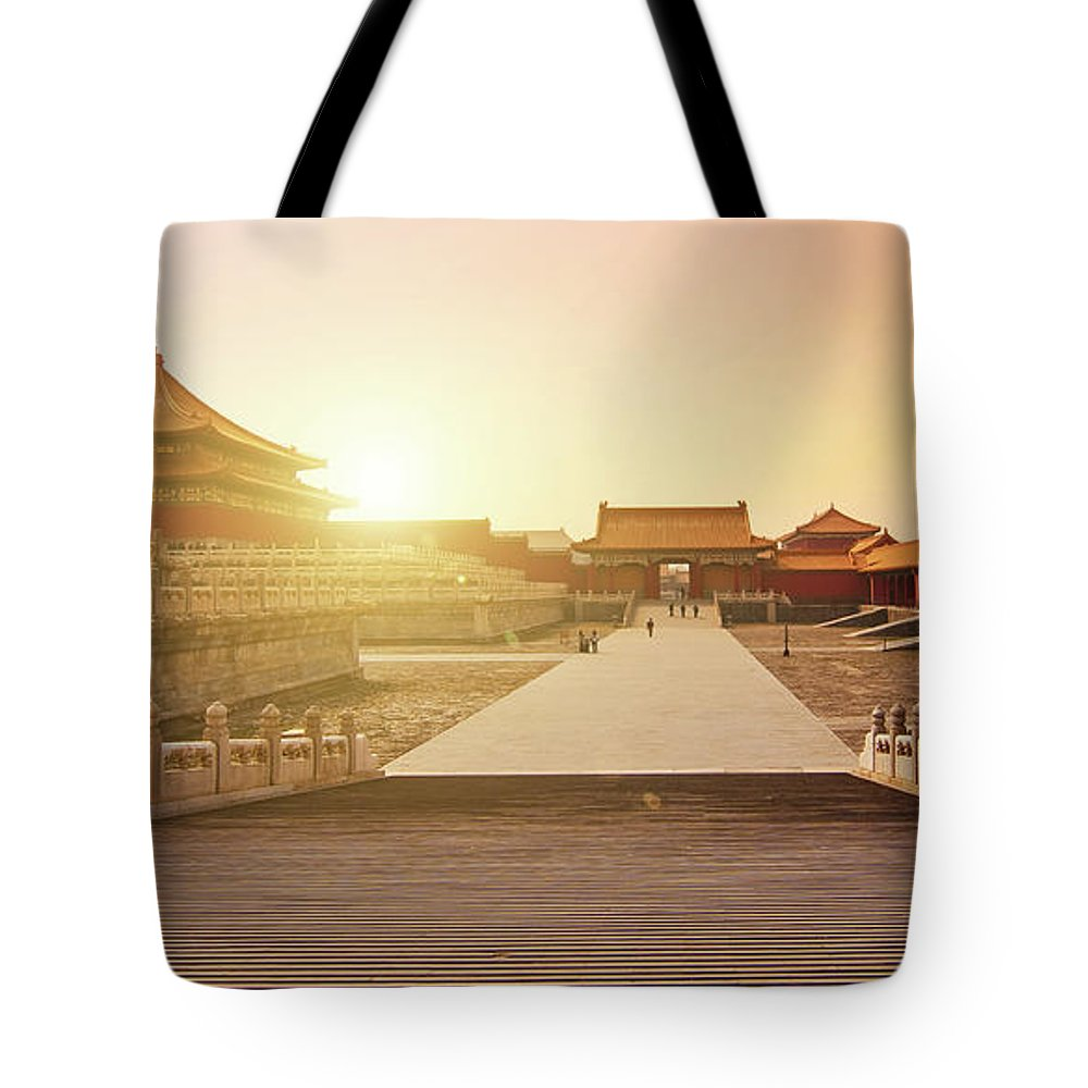 Forbidden City Tote Bag featuring the photograph Inside The Forbidden City by Delphimages Photo Creations