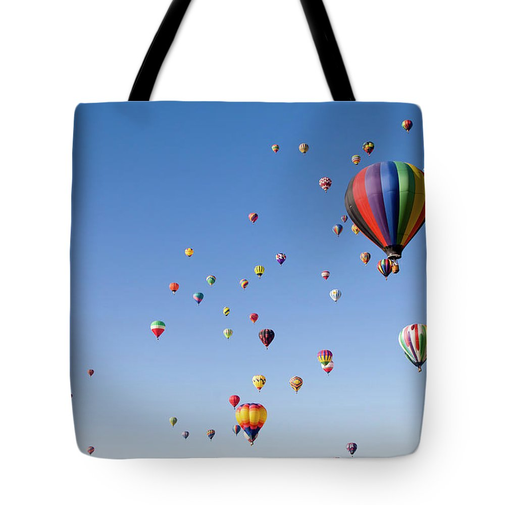 Event Tote Bag featuring the photograph International Balloon Fiesta by Prmoeller
