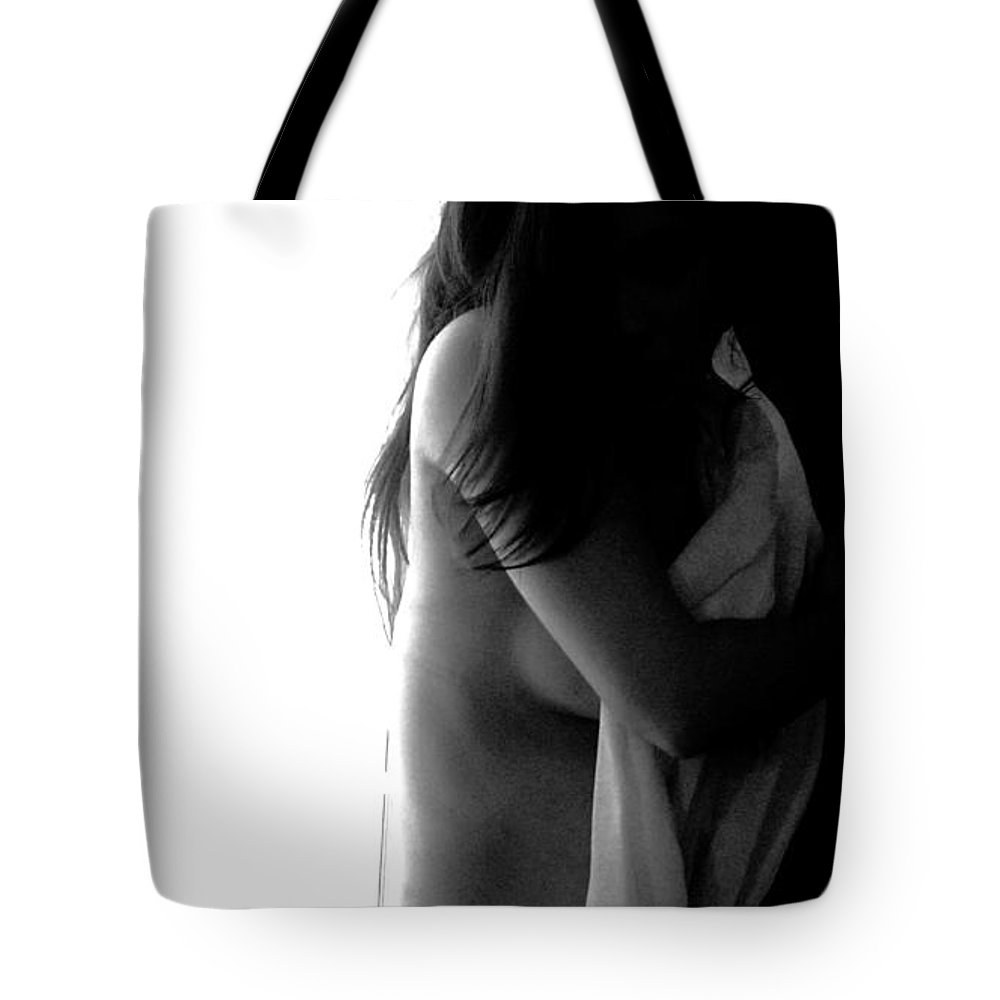 Black And White Tote Bag featuring the photograph Duality by Bloodworth Wolfson