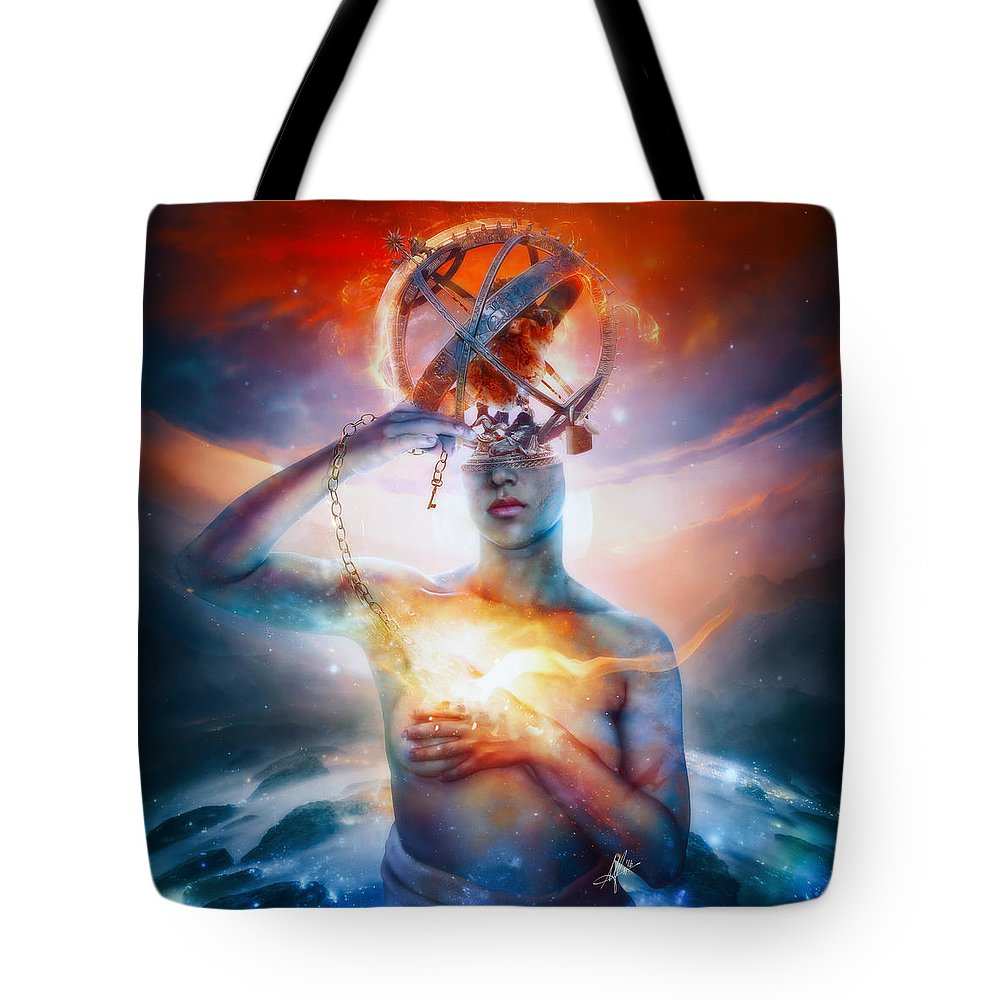 Essence Digital Art Tote Bags
