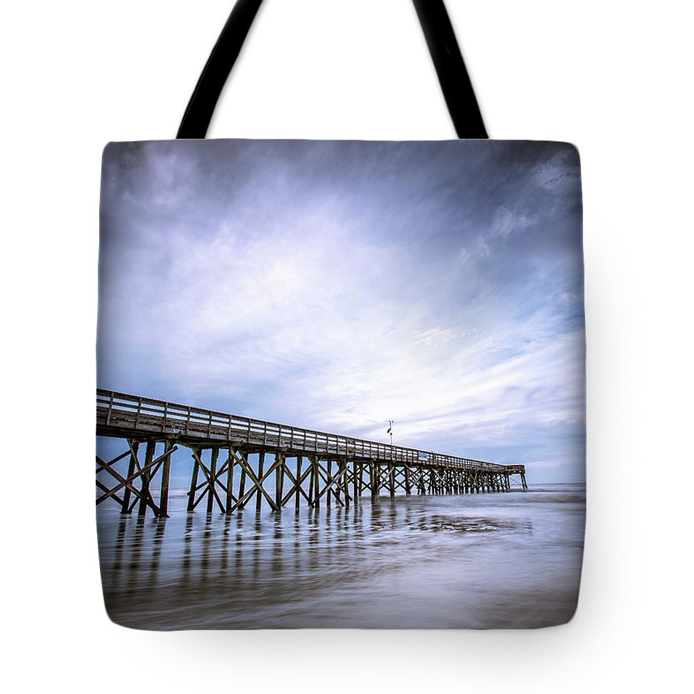 Mount Pleasant Tote Bag featuring the photograph Iop In The Morning by Walt Baker