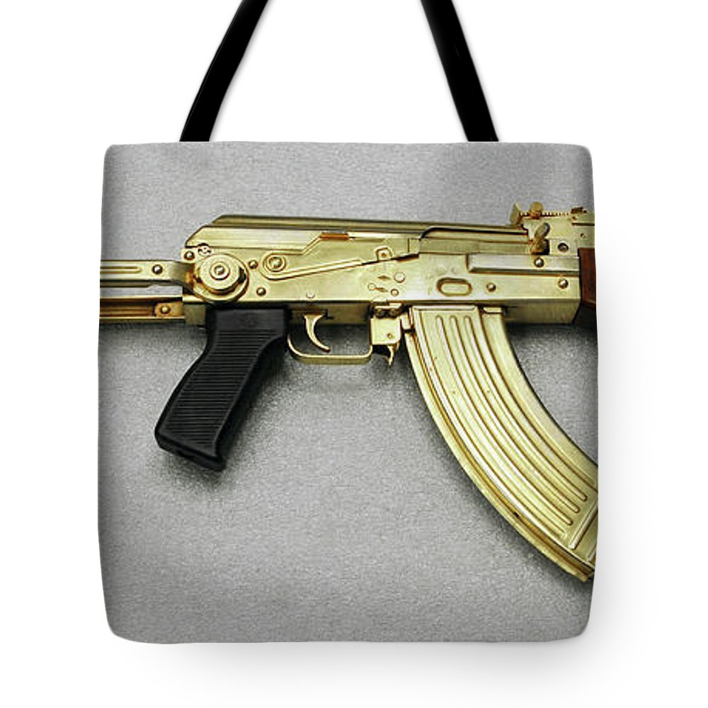 2003 Tote Bag featuring the photograph Iraqi Tabuk Assault Rifle by Granger