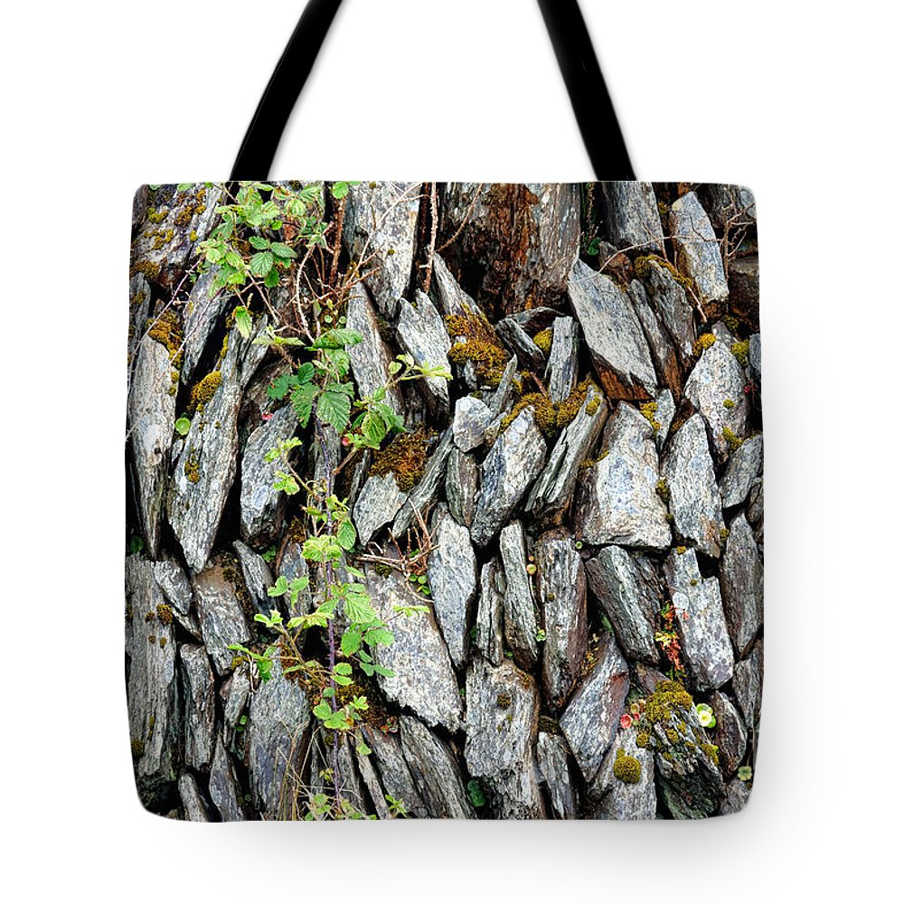 Irish Tote Bag featuring the photograph Irish Stone Wall by Olivier Le Queinec