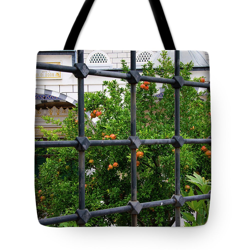Kemerburgaz Tote Bag featuring the photograph Iron Fencing by Bob Phillips