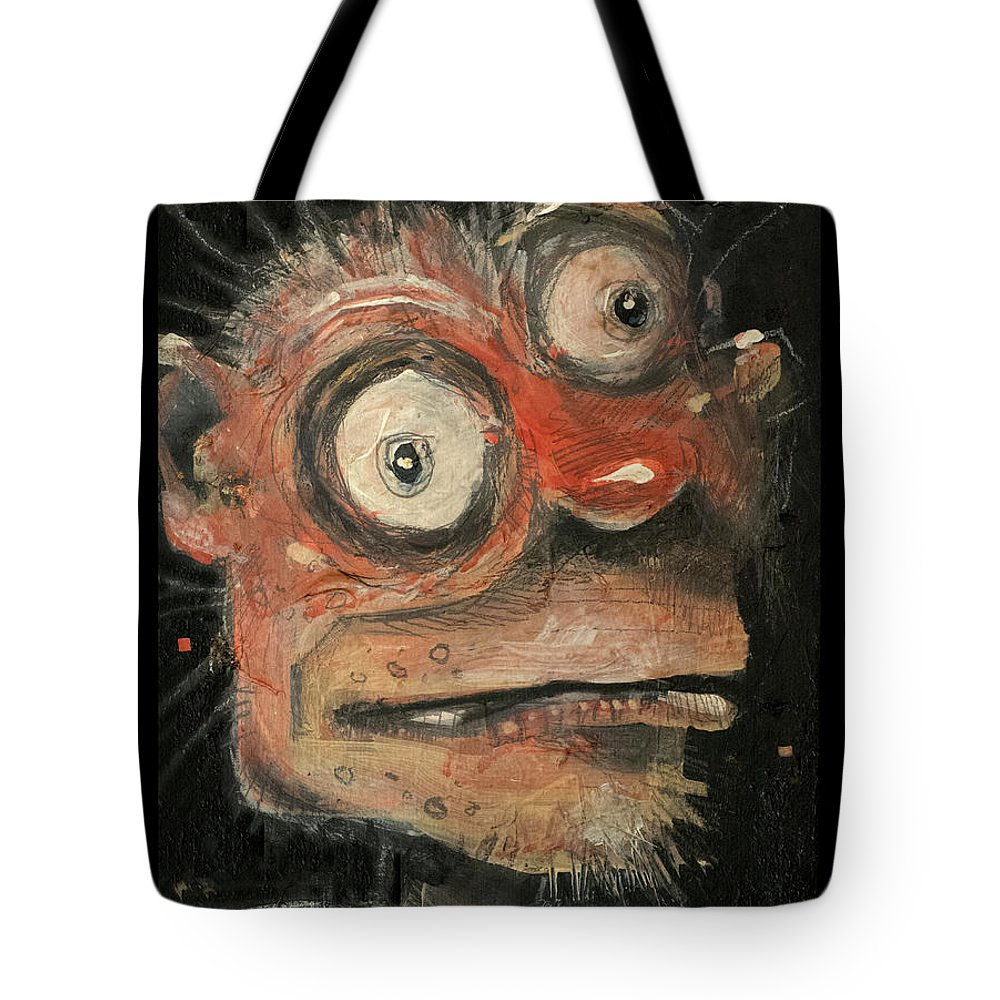 Man Tote Bag featuring the painting Irwin by Tim Nyberg