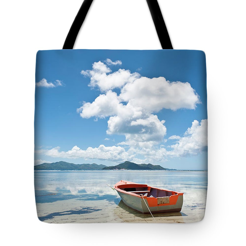 Water's Edge Tote Bag featuring the photograph Island Beach Tropical Shore Colorful by Fotovoyager