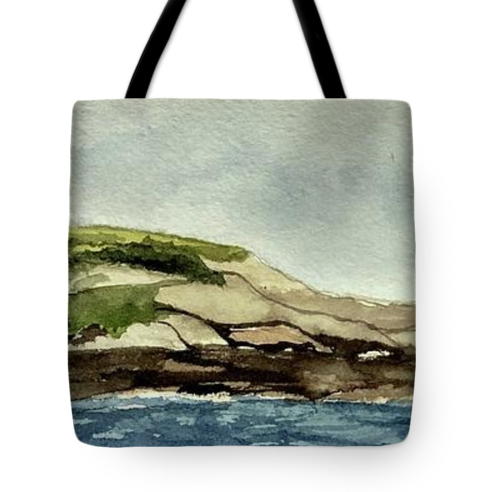 Maine Tote Bag featuring the painting Isolation by Nicole Curreri