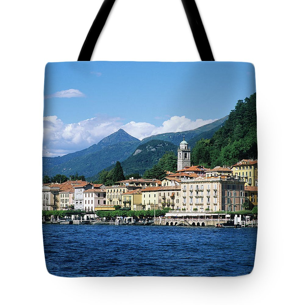 Scenics Tote Bag featuring the photograph Italy, Lombardy, Bellagio by Vincenzo Lombardo