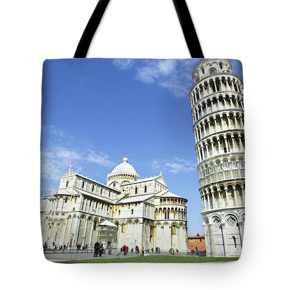 City Tote Bag featuring the photograph Italy, Tuscany, Leaning Tower Of Pisa by Alexander Hassenstein