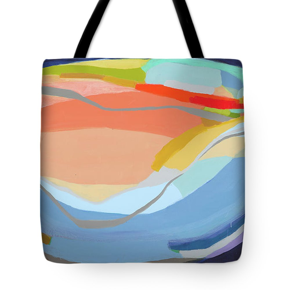 Abstract Tote Bag featuring the painting It's A New Beginning by Claire Desjardins