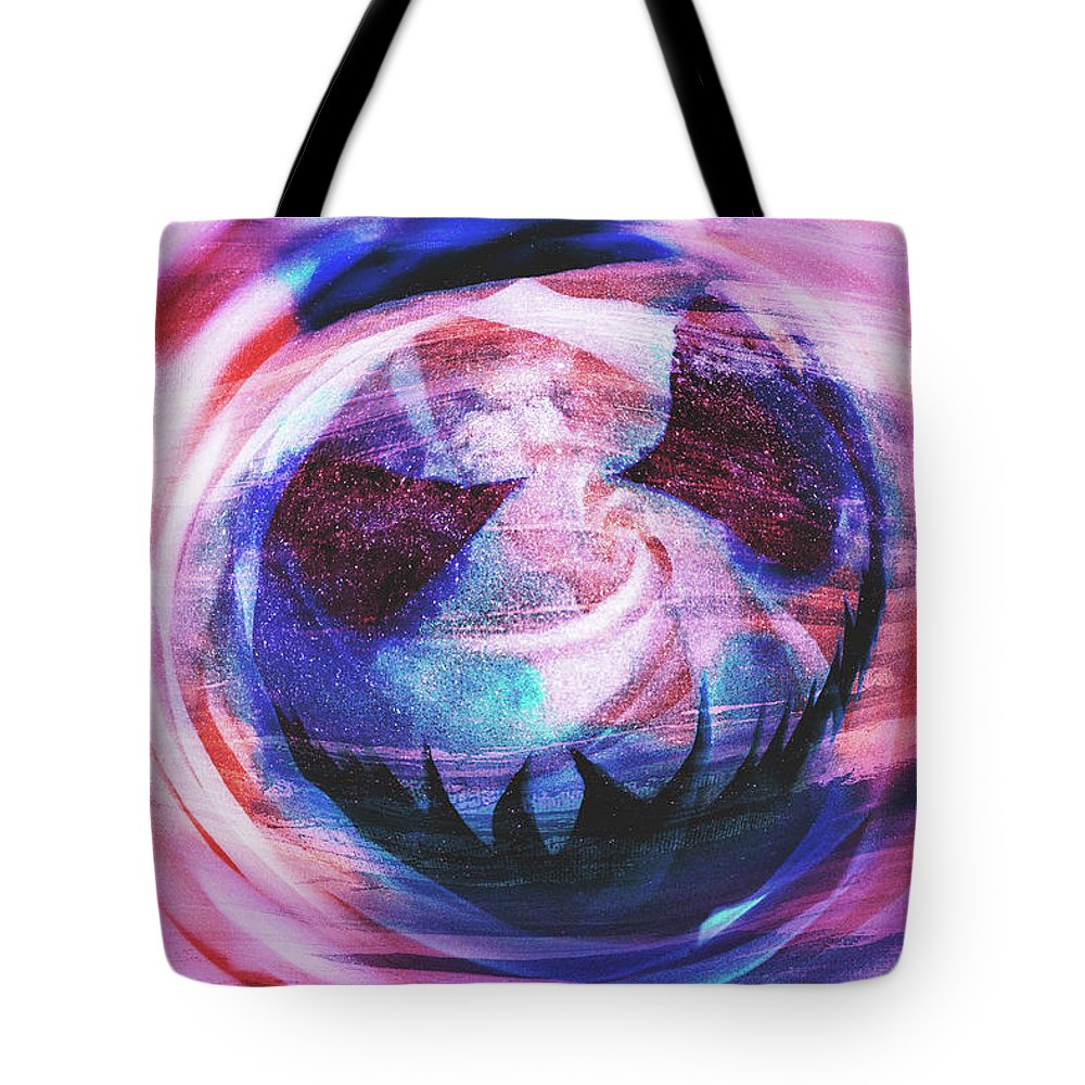 Spooky Tote Bag featuring the digital art Jack The Lanterns by Michael Reynolds