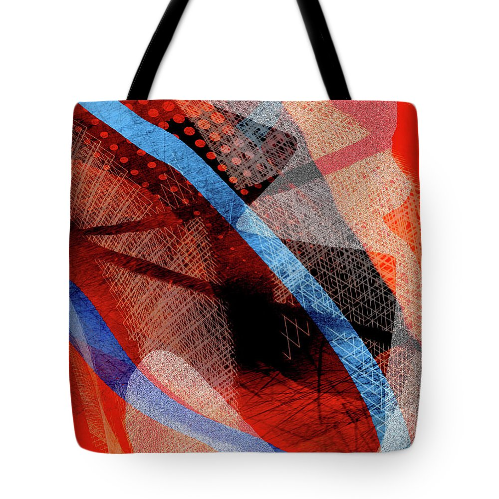 Abstract Tote Bag featuring the mixed media Jagger by Bruce Carlson