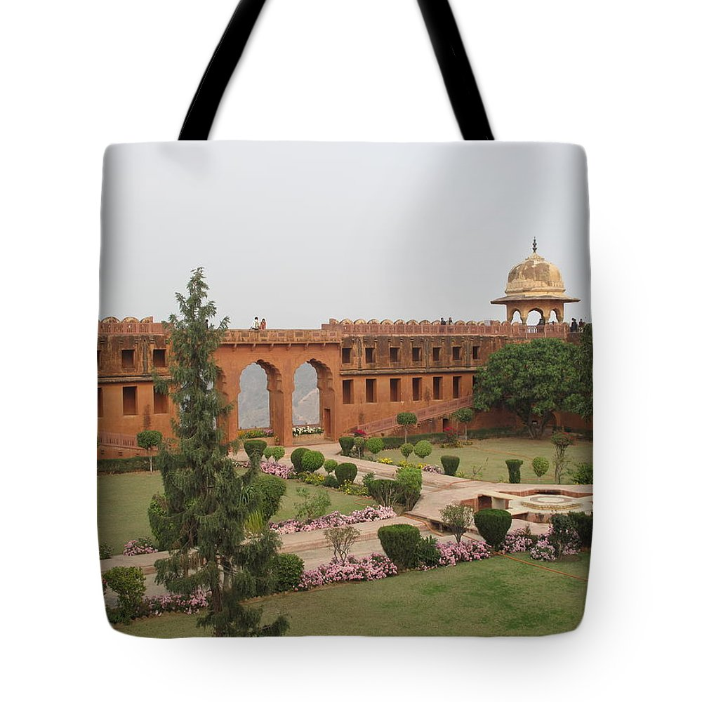 Arch Tote Bag featuring the photograph Jaigarh Fort, Amer, Jaipur, Rajasthan by Marianna Sulic