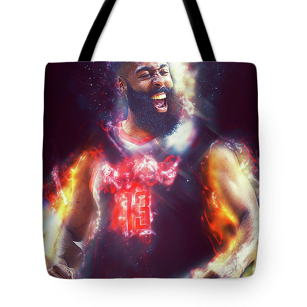 James Tote Bag featuring the photograph James Harden - 15 by Andrea Mazzocchetti