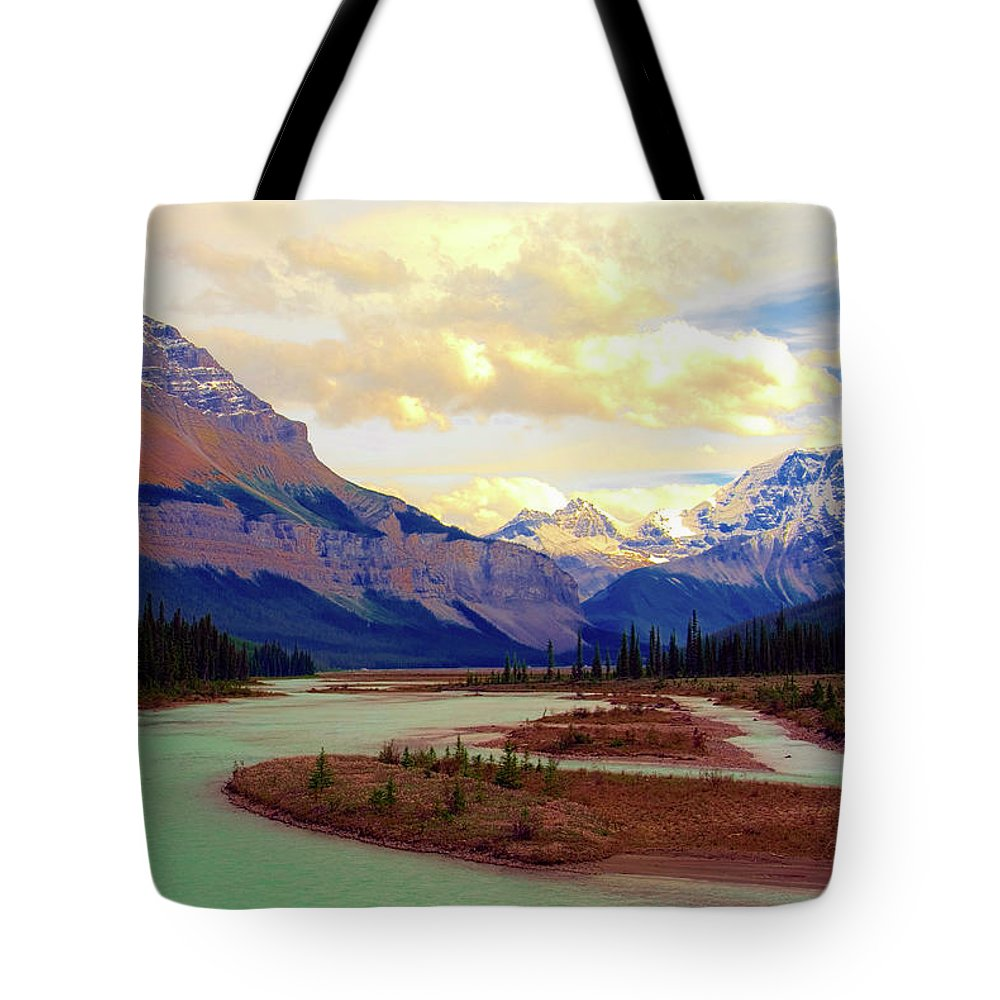 Scenics Tote Bag featuring the photograph Jasper Rockies by Teeje