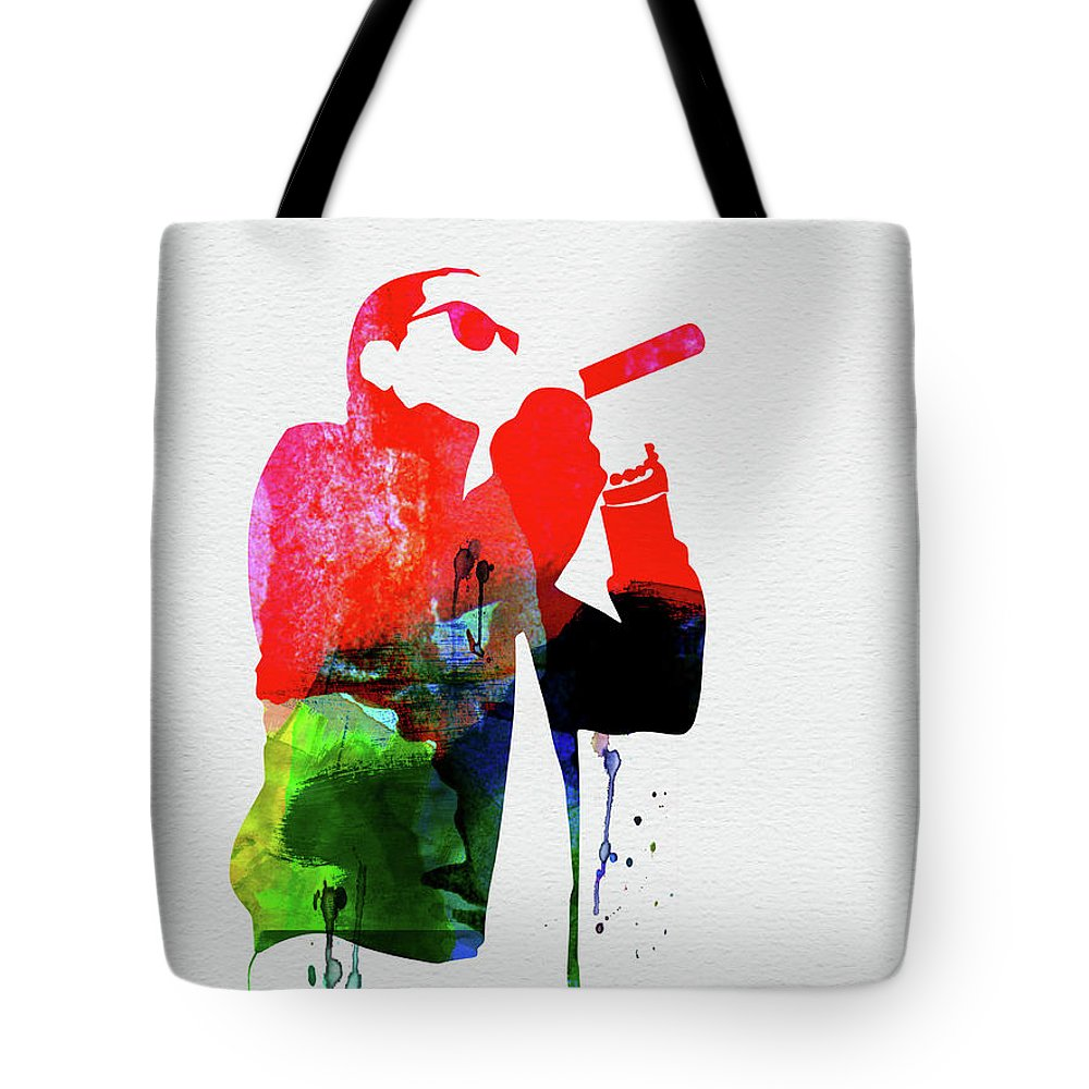 Jay Z Mixed Media Tote Bags
