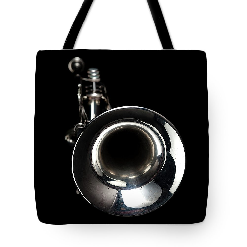 Music Tote Bag featuring the photograph Jazz Music Trumpet by Photovideostock