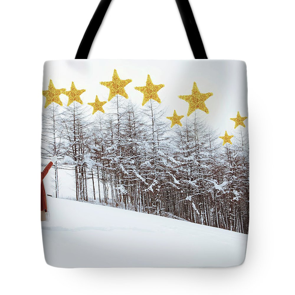 Hand Raised Tote Bag featuring the photograph Jesus, Lord, At Thy Birth by Copyright Alpsrabbit* All Rights Reserved