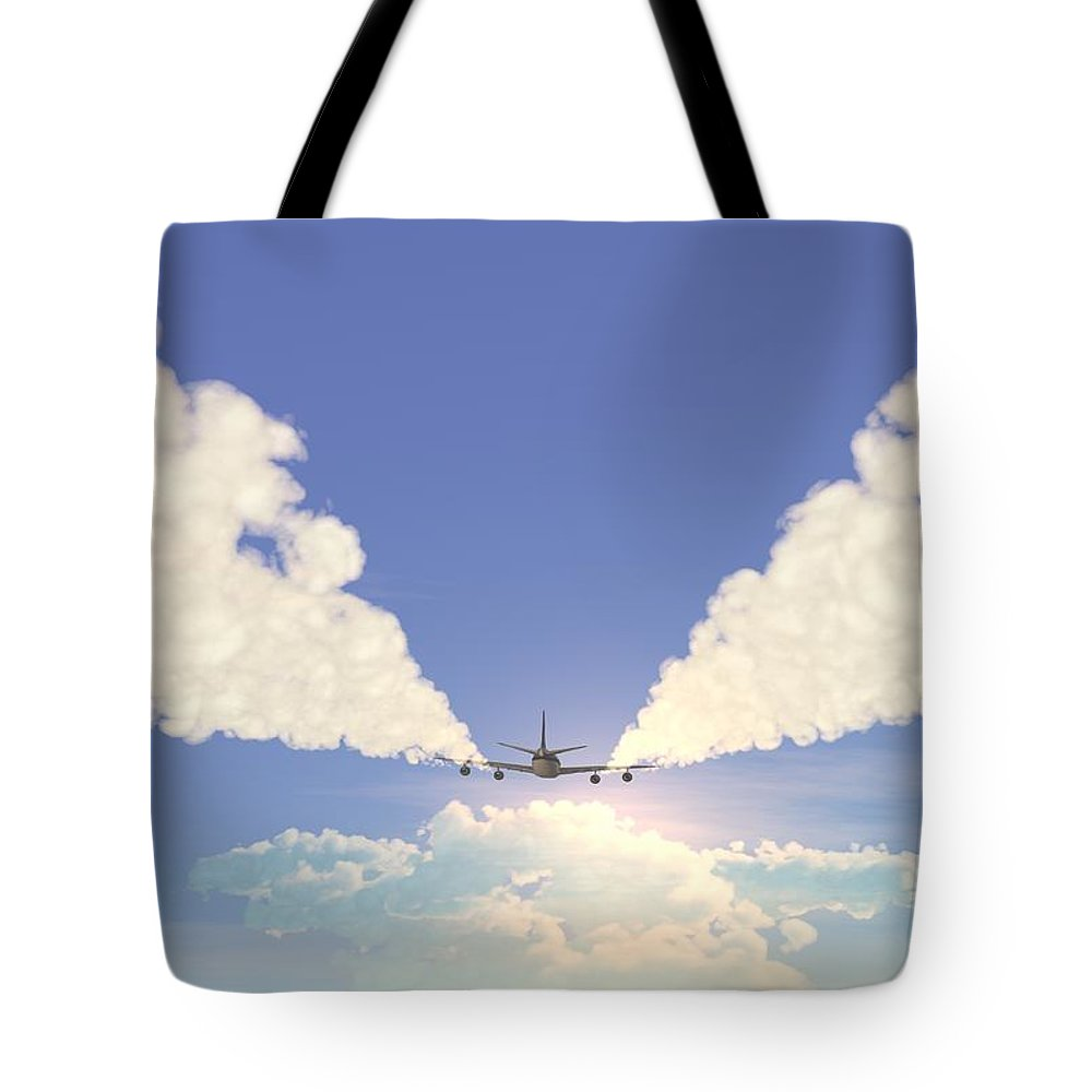 Engine Tote Bag featuring the photograph Jet by Pobytov