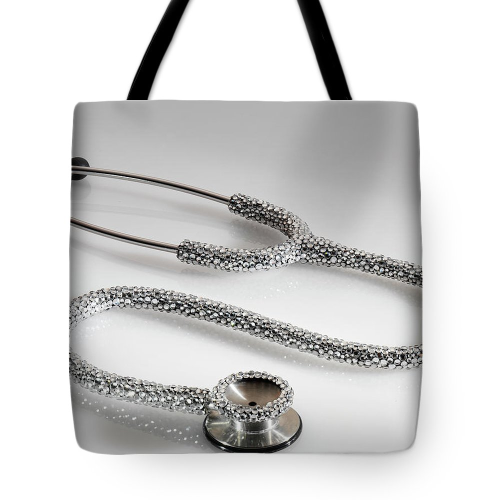 Expertise Tote Bag featuring the photograph Jewelled Stethoscope by Terry Mccormick