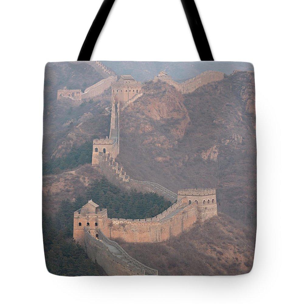 Chinese Culture Tote Bag featuring the photograph Jinshanling Section, Great Wall Of China by Thomas Kokta