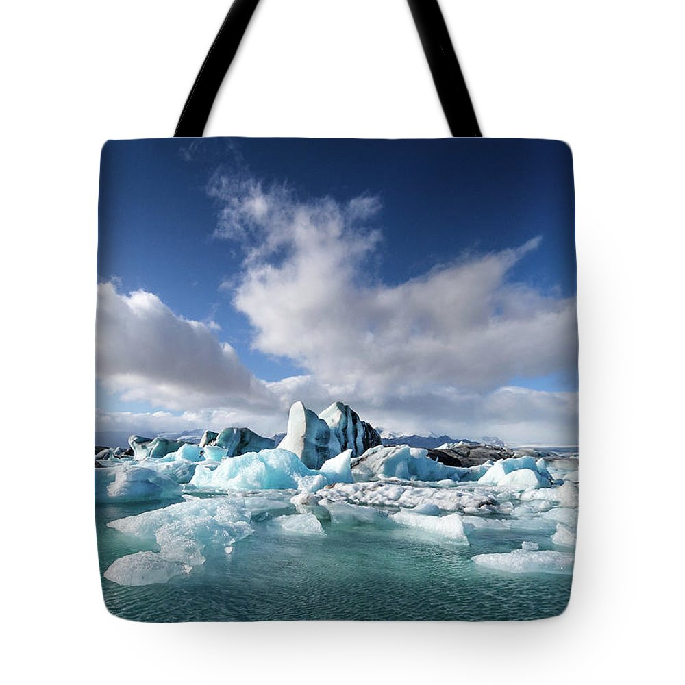 Tranquility Tote Bag featuring the photograph Jökulsárlón - Glacier River Lagoon by Daniele Carotenuto Photography