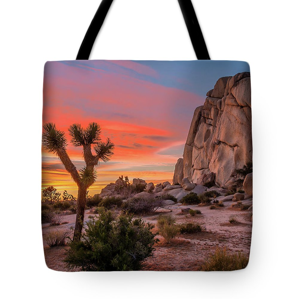 California Tote Bag featuring the photograph Joshua Tree Sunset by Peter Tellone