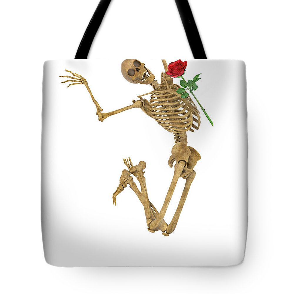 Human Tote Bag featuring the digital art Jump For Joy by Betsy Knapp