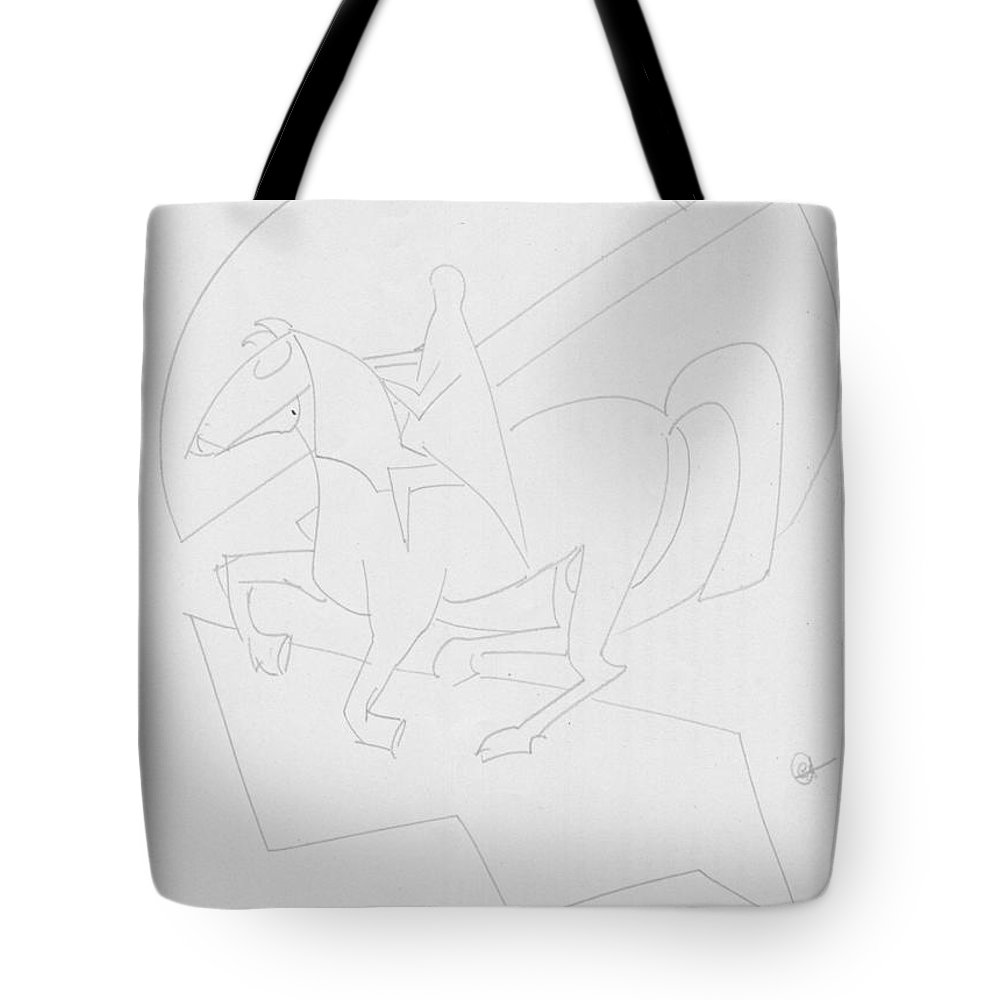 Pencil Work On Paper Tote Bag featuring the drawing Jump To My Dreams by Mustafa Attari