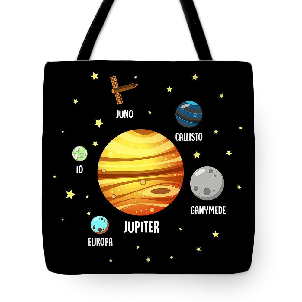 Gift Tote Bag featuring the digital art Jupiter Planet Universe Astronomy by FH Design
